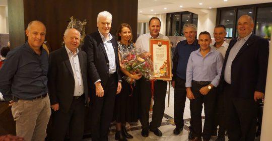 Daniel Dosser Ehrenmitglied der Feuerwehr Schenna