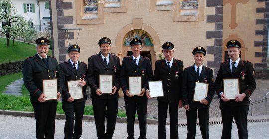 Vier Wehrmänner mit Gold ausgezeichnet